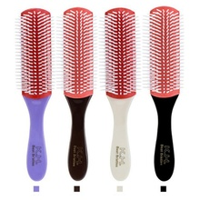 NEW Anti-Static Nine-Row Massage Comb Oil Head Hair Fine Combs Brushes Men Anti-static Magic 9 Rows Brush Salon