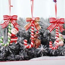 Рождественские праздничные украшения, Санта-Клаус, снеговик, маленькая костяшка, украшения для конфет, Рождественский макет, браслет, Шарм ...