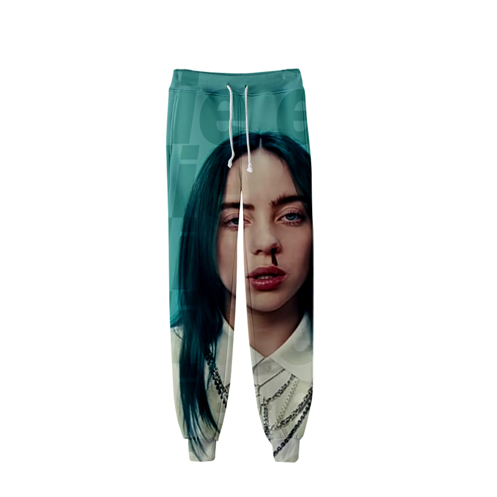 New Hot Sale Billie Eilish3D Casual Trousers Men And Women Fashion Autumn Winter 3D Boys And Girls Comfortable Blue Sweatpants