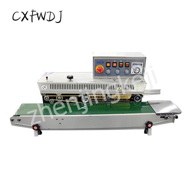 FRM-980 sac alimentaire continu film emballage et Machine de cachetage automatique commerciale Machine de cachetage Date avec roue d'encre d'impression