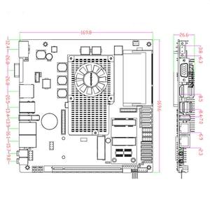 Image 5 - La carte mère Mini ITX testée prend en charge le processeur Intel core i3/i5/i7 avec carte mère industrielle 6 * COM 6 * USB