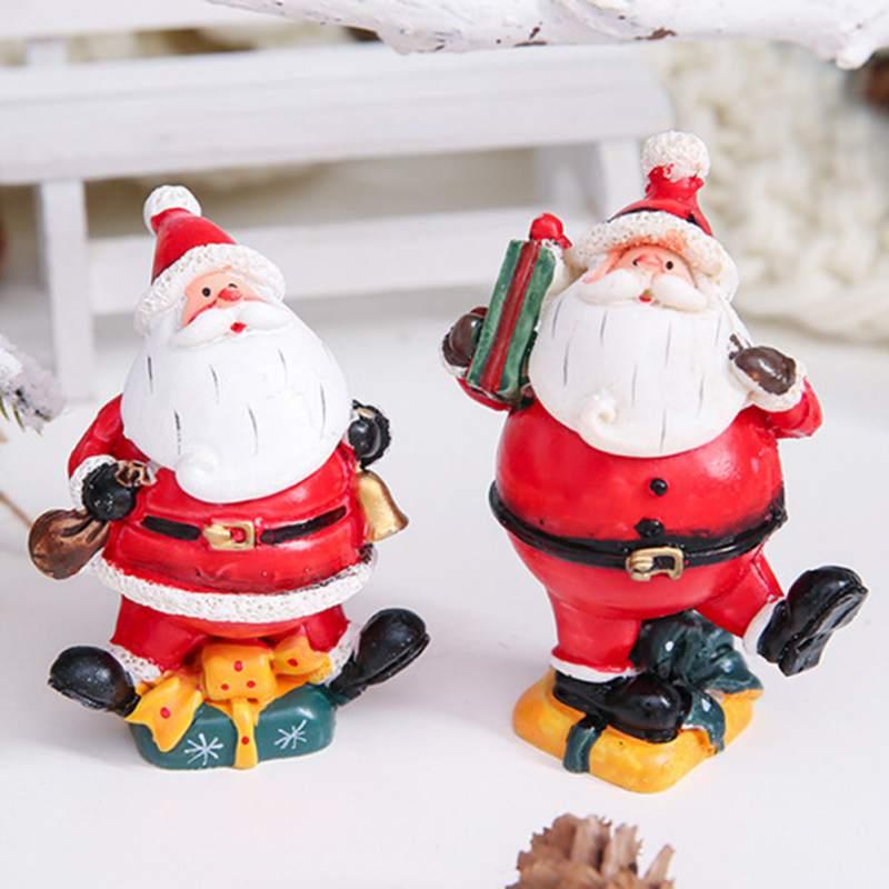 4PCS/set Merry Christmas Santa Claus Snowman Tree Toy Doll Gift Ornaments Hanging
