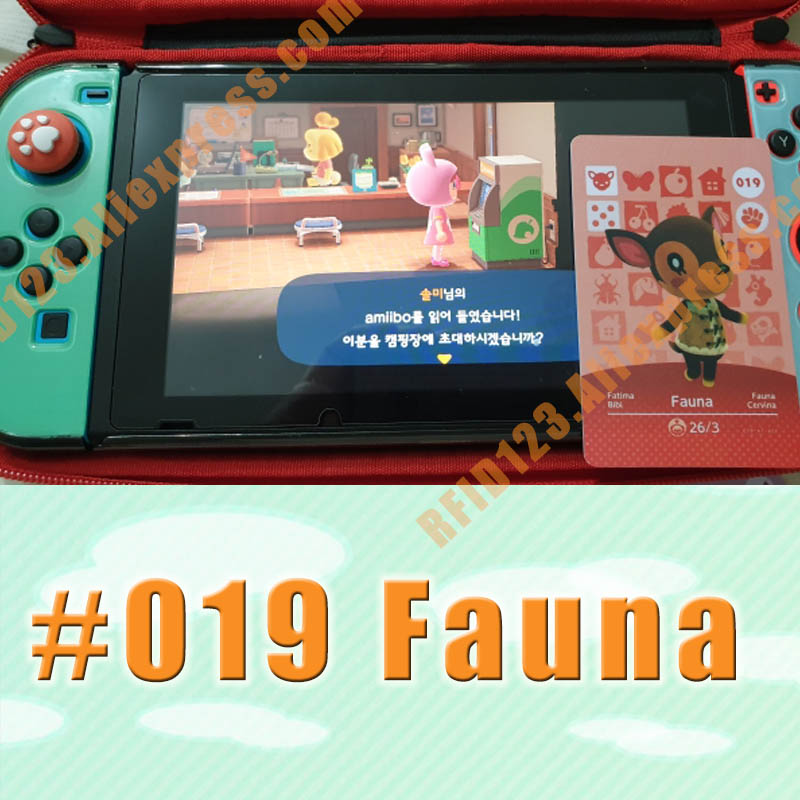 019 Fauna  Animal Crossing Card Amiibo Cards Work For Switch NS 3DS Games