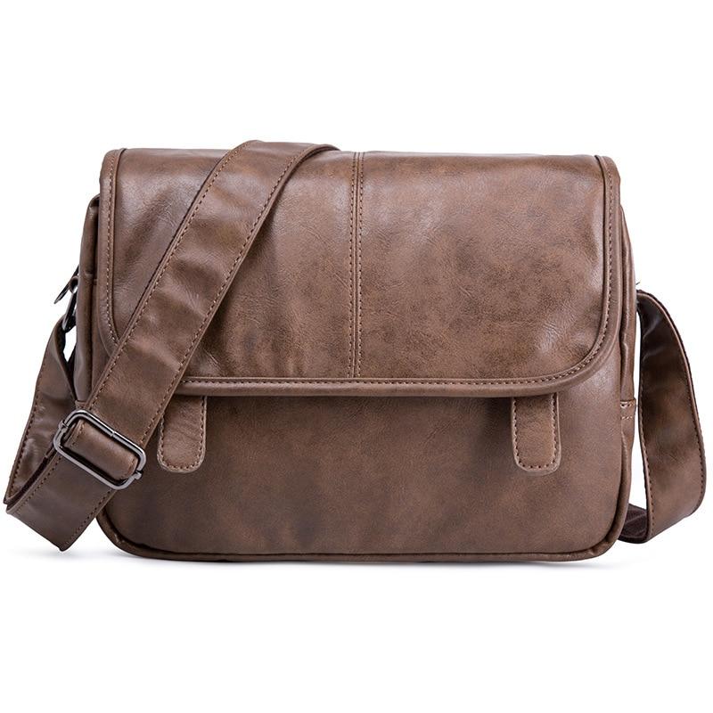 Messenger Bag Men Leather Crossbody