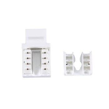 50 Pcs Generic Cat6 RJ45 Keystone Jack Punch-Down Stand Ethernet Module Coupler HSJ-19