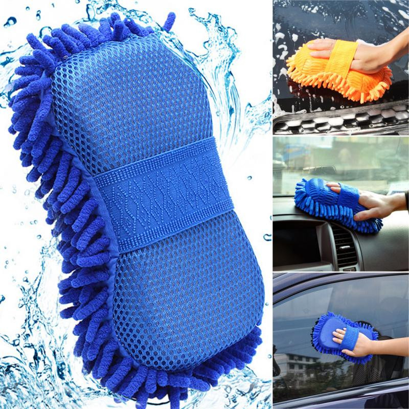 2 In 1 Car Washing Gloves Car Cleaning Sponge Coral Shaped Superfine Fiber Chenille Car Washing Sponge