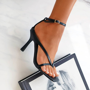 DEleventh קיץ 2020 נשים של סקסי פצצה כיכר בוהן עקבים גבוהים נעלי הבוהן הידוק פגיון עקבים גבוהים