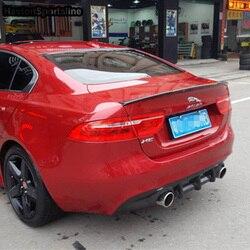 XE zaktualizowane M4 styl z włókna węglowego tylny przedział bagażowy Spoiler skrzydło samochodu dla jaguar XE 2015 2016 2017 2018|Spoilery i skrzydła|   -