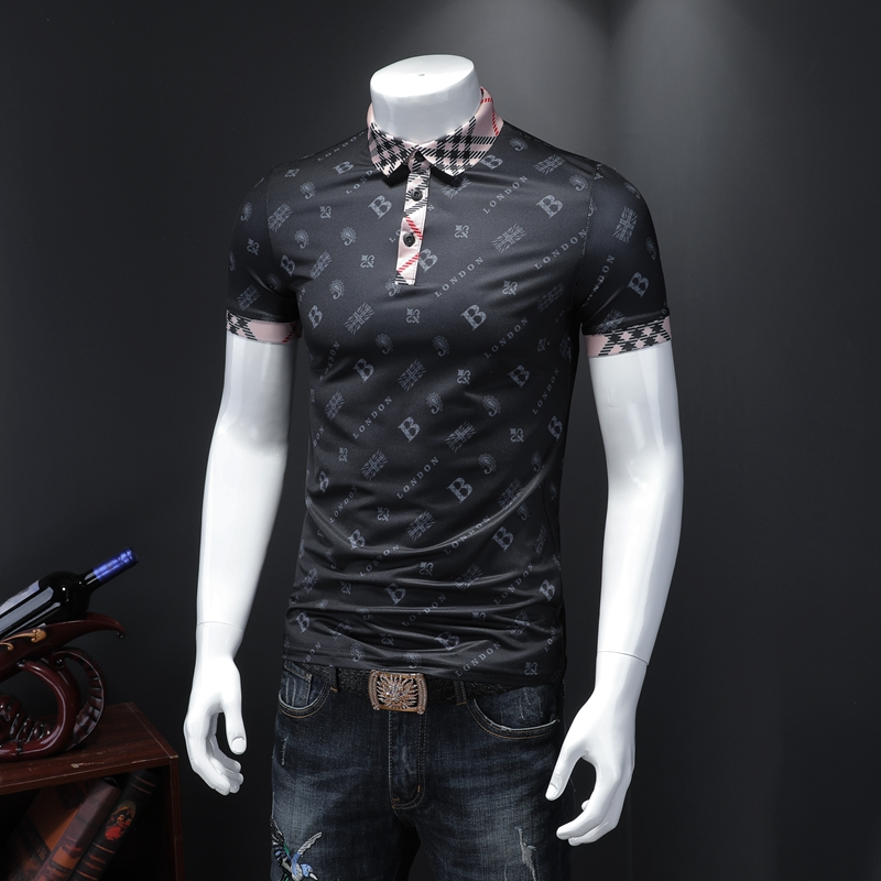 New Arrival Brand Men polo shirt Hyundai Slim Short Sleeve Men High-quality printing Men Shirt Business & Casual Polo Shirt Men Men's Clothings Men's Polo Shirts Men's Tops cb5feb1b7314637725a2e7: black