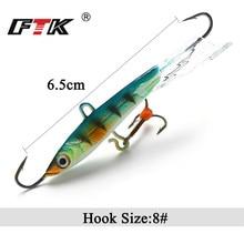 FTK Winter Ice Fishing Lure 1pc  22g/80mm Movable Bait Fish Hook Balancing Jigs Jigging Lures