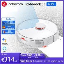 Roborock S5 Max robotlu süpürge akıllı süpürme temizleme elektrikli paspas yükseltme S50 S55 ev halı toz robotik toplayıcı