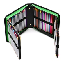 Pencil case 3 compartments 120 Slots Colored Case Oxford Fabric Pen with Compartments Holder