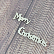 Happymems Wooden Shapes Merry Christmas Letters DIY Party Decorations Embellishments Unfinished Laaer Cut Wood Stick Crafts