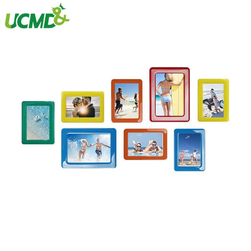8 Pcs/lot Colorful Crystal Magnetic File Photo Frame 6