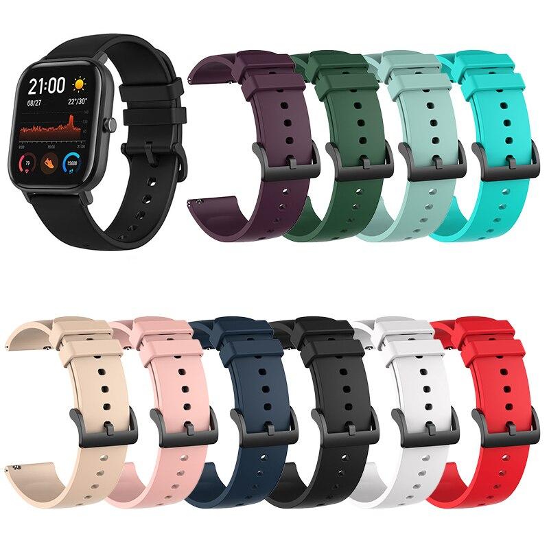 Silicone Wrist Strap For Xiaomi Huami Amazfit GTR 42MM GTS Bracelet Accessories On My Xiomi Mi Smart Watch Band Leather Straps