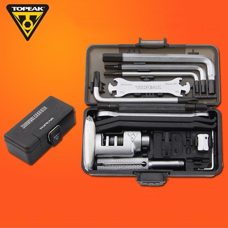 Topeak-Juego de Herramientas TT2543 Multi reparación, caja de cambios de supervivencia, herramienta portátil para ciclismo, MTB, Kits de llave para Bicicleta de carretera