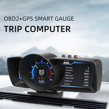 LEEPEE Multi-Funktion Dashboard Auto Gauge Alarm System OBD2 + GPS Smart Tacho Head Up Display Turbo Boost Auto HUD