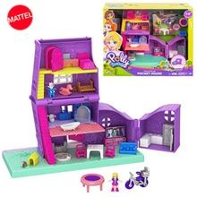 Оригинальная карманная мини коробка Polly для маленьких девочек, Игрушечная машина для девочек, мировая мини сцена, игрушка для девочек, подарок, кукольный домик, аксессуары, Juguetes