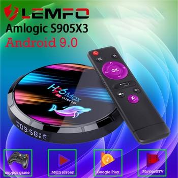 LEMFO TV BOX Android 9.0 8K Smart TV BOX 4GB 64GB HDMI 2.1 LAN 1000M 2.4G/5G WIFi Android TV Box