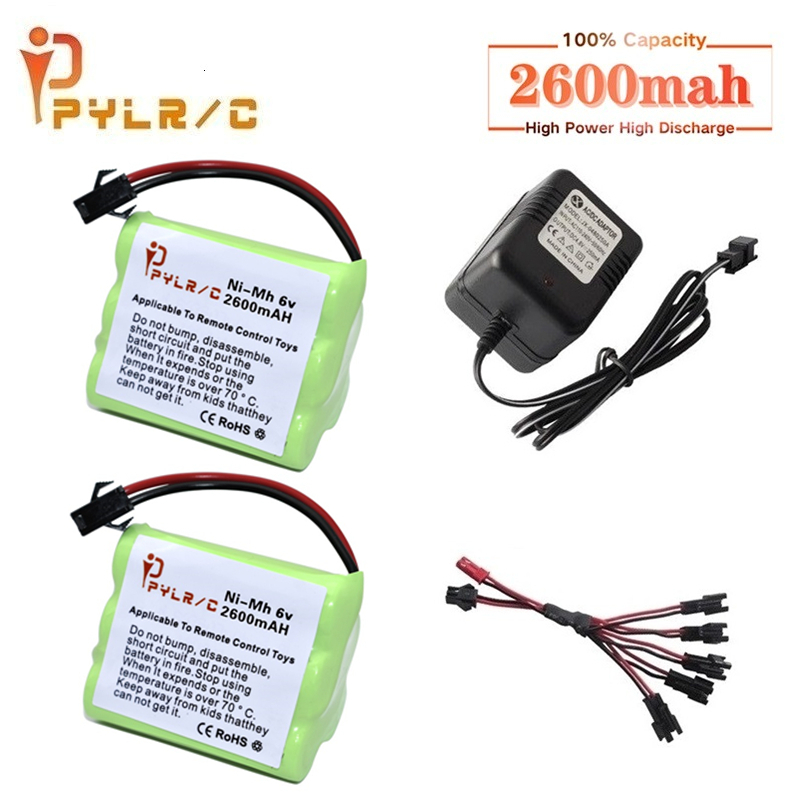 6v 2600mah Ni-MH Battery And Charger For Rc Toys Car Tanks Robots Gun 2600mah AA 6v Rechargeable Battery Pack For Rc Boats
