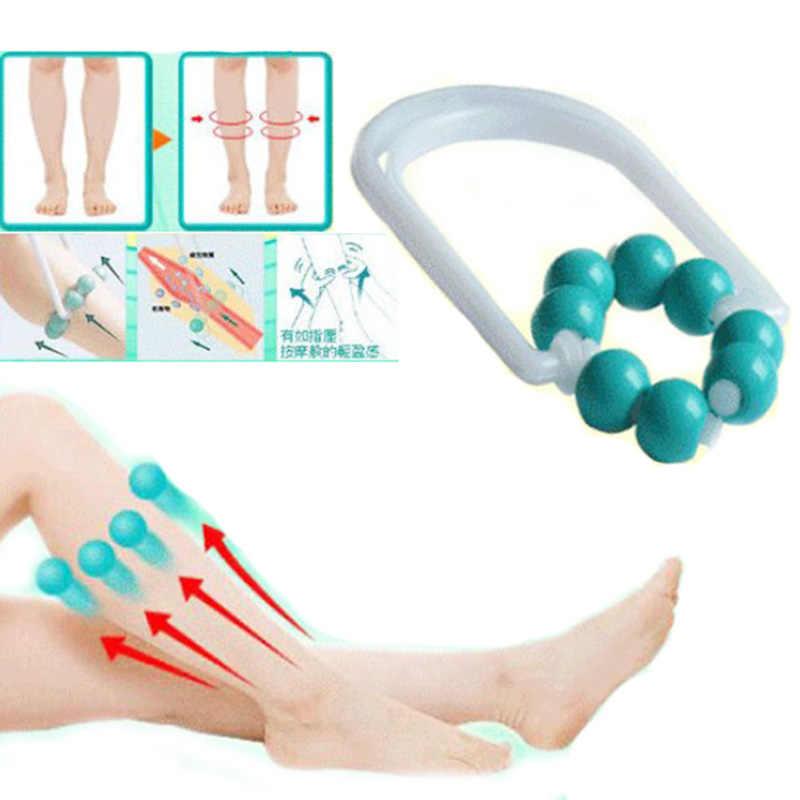Masajeador adelgazante con rodillo para pantorrilla, masajeador para tirar la pelota con ocho cuentas para aliviar la fatiga, masajeador para el cuidado de la salud corporal y piernas
