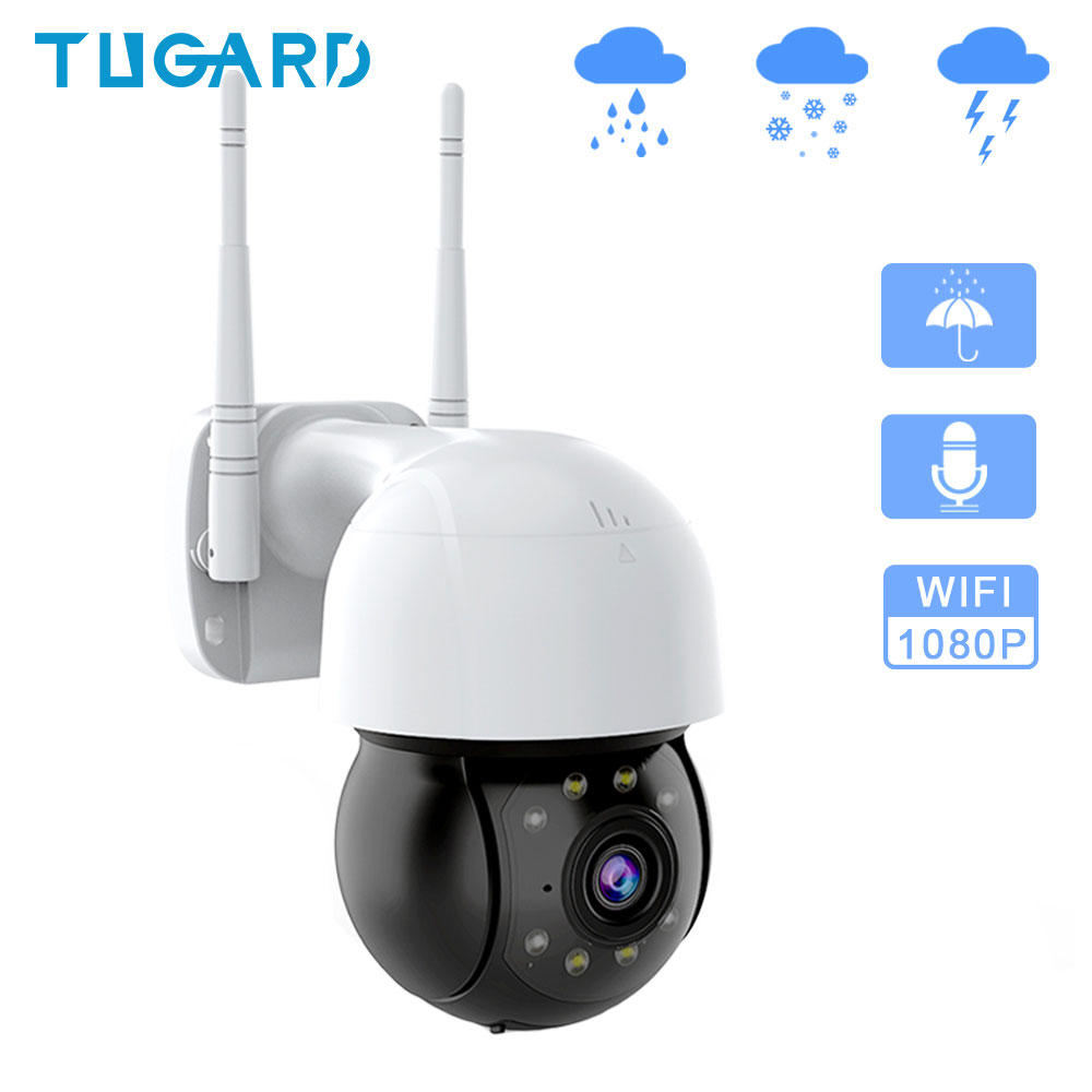 Outdoor Waterproof Wifi Surveillance Camera      1080P Night Vision HD PTZ IP Camera      Onvif P2P Audio CCTV Network Security Cameras