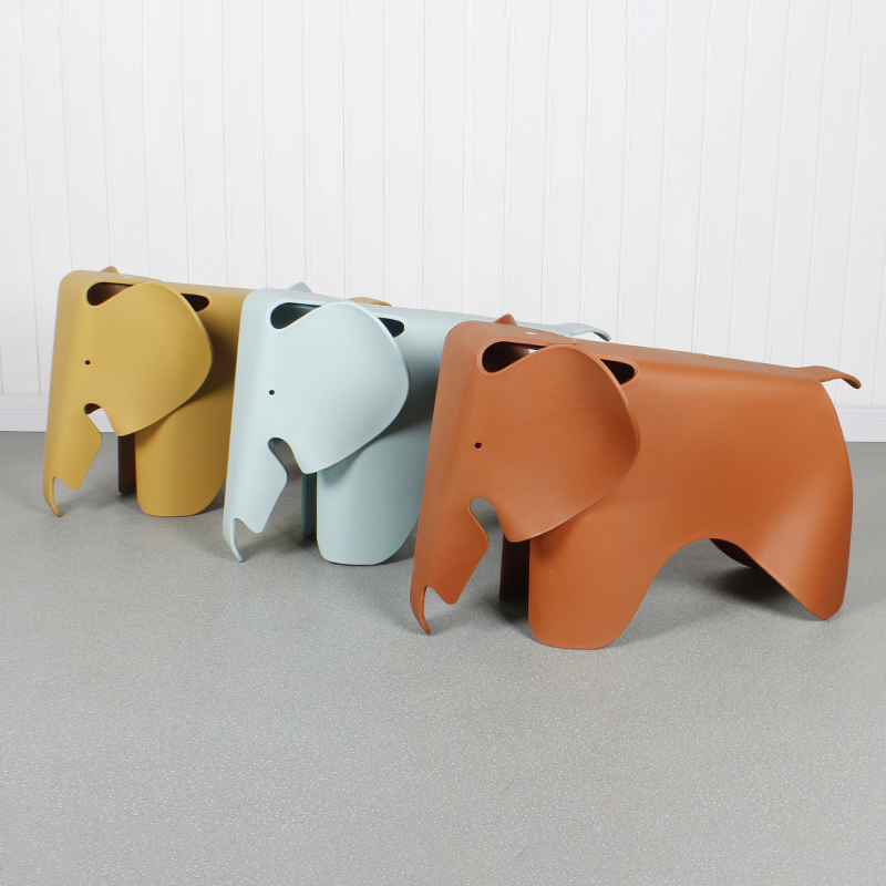 Child Seat Elephant Shape In Room Welcomed By The Children Animal Kids Chair Waterproof PP Plastic Chairs Bearing