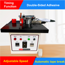 Woodworking Edge Banding Machine Speed Control Mini Manual Wood Cutting Pvc Curved Straight Automatic Broken Belt