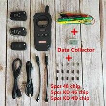 KD-X2 keydiy porta da garagem chave do carro remoto kd x2 generater chip leitor/identificar/freqüência 96 bit 48 com chip e coletor de dados