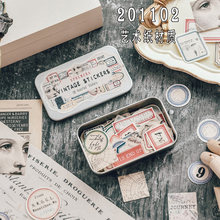 Caja de hojalata para billetes de viaje, pegatinas decorativas DIY, planificador diario, álbum de recortes, Material de papelería, 100 Uds.