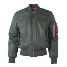 Плюс размер US Air Force Pilot Ma1 Bomber Flight Jacket Мужская стеганая куртка в стиле хип хоп Леттерман Зимнее водонепроницаемое нейлоновое пуховое красное женское пальто