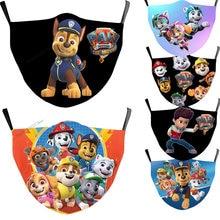 Máscara de Cosplay de patrulla canina para niños, mascarilla facial con filtro reutilizable de protección para chico y niña, Marshall, Chase, Rubble, Paw Pups