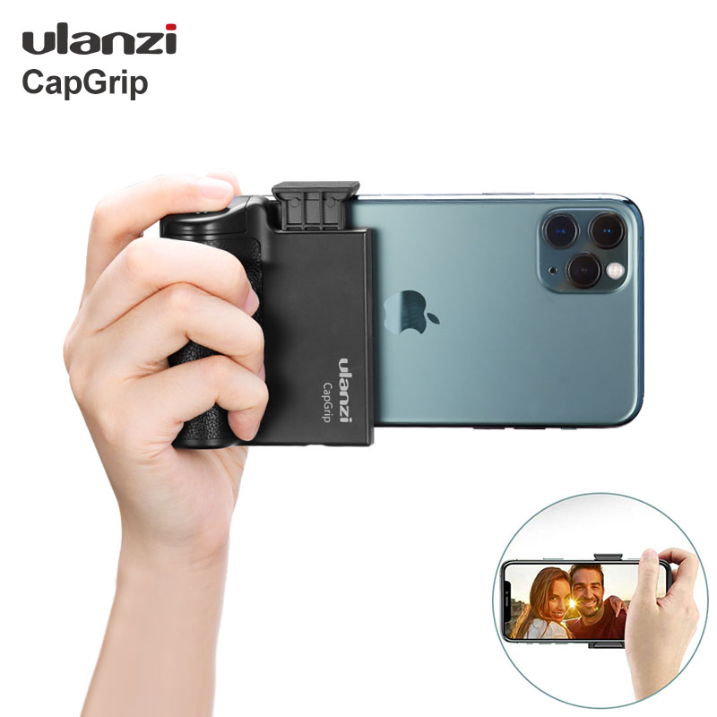 Ulanzi CapGrip Wireless Bluetooth Smartphone Selfie Booster Handle Grip Phone Stablizer Stand Holder Shutter Release 1/4 Screw