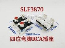 10PCS/LOT RCA plug socket metal lotus female seat audio audio amplifier terminal block free shipping