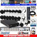 Mutil language Dahua16CH XVR5116HS-X комплект для камеры с 1080P bullet CVI camera DH-HAC-HFW1200R IR30M водонепроницаемый HDCVI camera kit