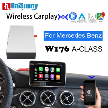 Wireless Carplay for mercedes w176 A-Class Support NTG 4 5 System Android Auto Multimedia Upgrade Screen Mirroring Link Car play image