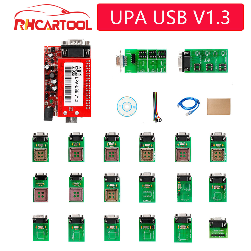 UPA Car Diagnostic Tool  2019 OBD2 UPA Usb Programmer Diagnostic-tool UPA-USB ECU Programmer UPA USB V1.3 With Full Adapter