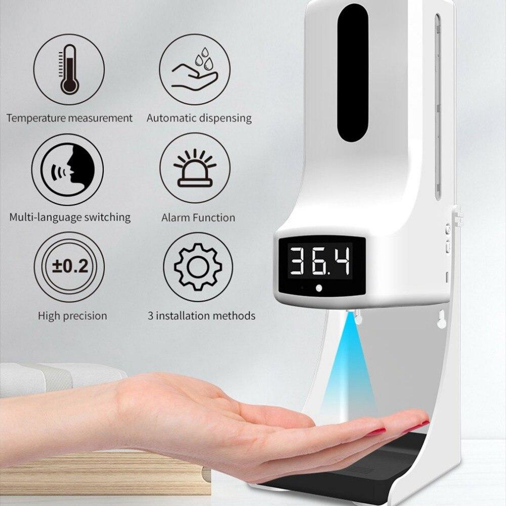 contato testa termômetro usb dispensador de sabão
