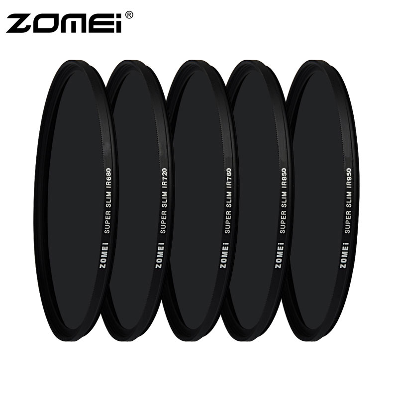 ZOMEI 72mm IR Filter 720NM X-Ray Infrared Filter F//Canon Nikon Sony DSLR Lens