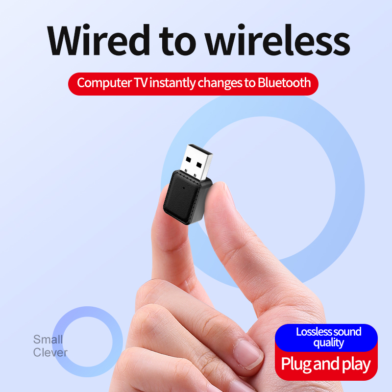 2 In 1 Wireless USB Bluetooth 5.0 Adapter Transmitter Receiver Wireless Audio Adapter Stereo Audio 3.5mm With LED Indicator1PCS enlarge