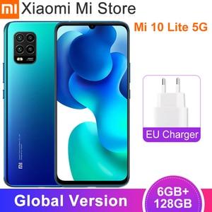 Глобальная версия смартфона Xiaomi Mi 10 Lite 5G 6 ГБ 128 ГБ Snapdragon 76 5G камеры 48 МП 4160 мАч аккумулятор 6,57