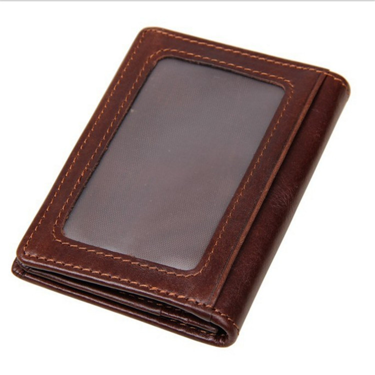 New Style Korean-style Genuine Leather Purse Casual Document Package-Style Retro Wallet Fashion