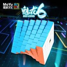 MoYu Meilong 6x6 Mofang Jiaoshi küp 6x6x6 sihirli küp 6 kat hız bulmaca küpleri oyun Mini boy eğitici oyuncaklar