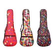 21 / 23 / 26 Inch 4-String Guitar Portable Ukulele Bag Waterproof Oxford Fabric Carry Case Gig Ukulele Waterproof Backpack Bags