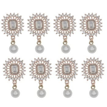 Rhinestone Corsages Wedding Flower Accessories Boutonniere With Pearl Decoration For Mariage Bride Brooch Accessories 10pcs/lot цена 2017