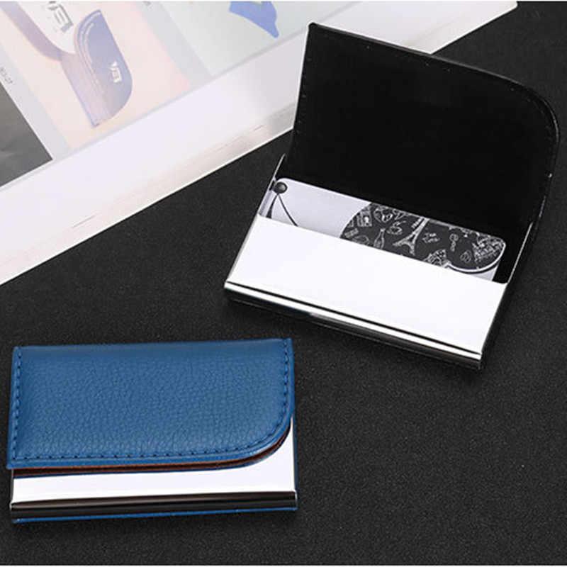 ZOVYVOL 2020 gran capacidad de negocios ID titular de la tarjeta de crédito Cartera de nombre tarjeta bancaria Paquete de tarjeta de acero Sólido caja de tarjeta caso hombres Mujer
