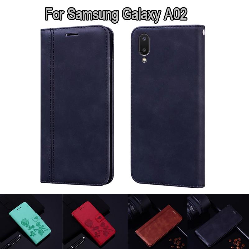 Чехол-бумажник для Samsung Galaxy A02 SM-A022M A022F, кожаный чехол-книжка для Samsung A02 A 02, чехол-книжка для телефона, чехол Etui Coque