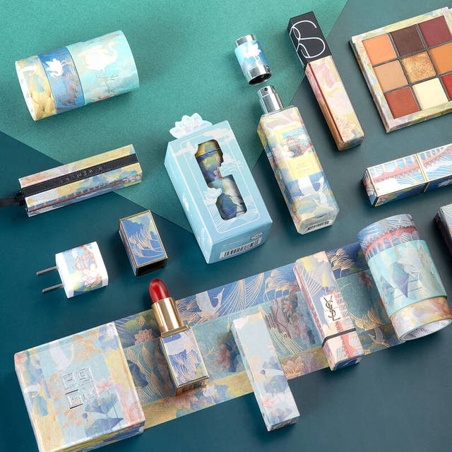 3pcs Summer Palace Paper Washi Tape Set Original Chinese Luxury Style Adhesive Masking Tapes for Lipstick Diary Sticker DIY 6330 4