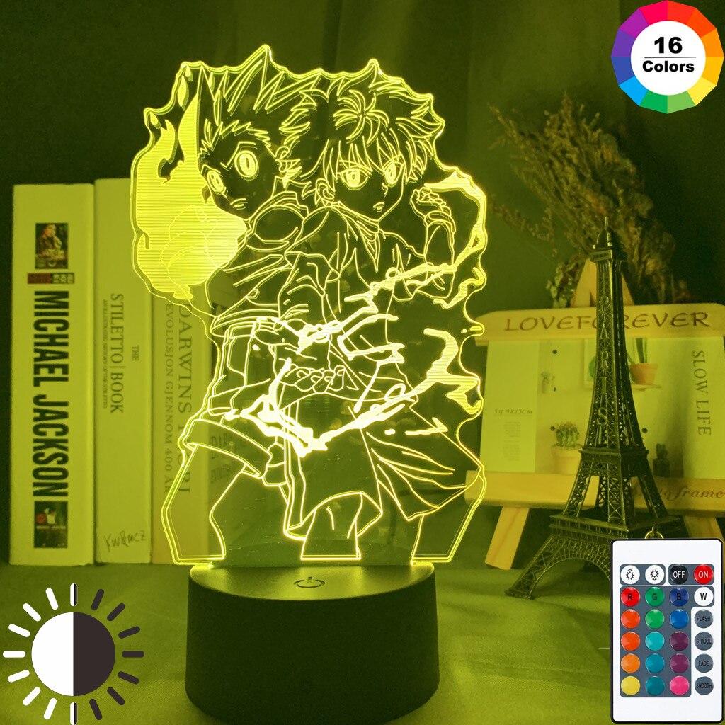 Permalink to Gon and Killua Figure 3d Night Light Anime Hunter X Hunter Nightlight for Kid Bedroom Decor Lighting Child Gift HxH Lamp Bedside