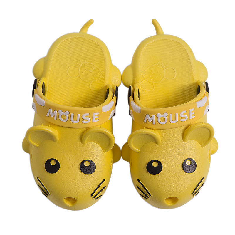 Cartoon Mouse Children Sandals Slippers Baby Boy Girls Shoes Slippers Indoor Non-slip Soft Bottom Shoes Parent-child Slippers